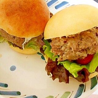 サニーレタスとトマトのハンバーガー