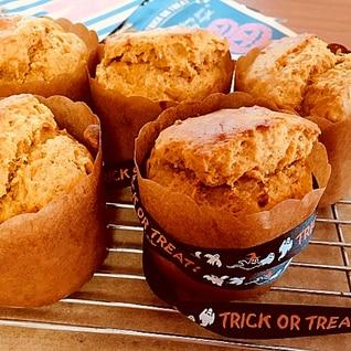 かぼちゃの簡単アメリカンマフィン(サラダ油使用)