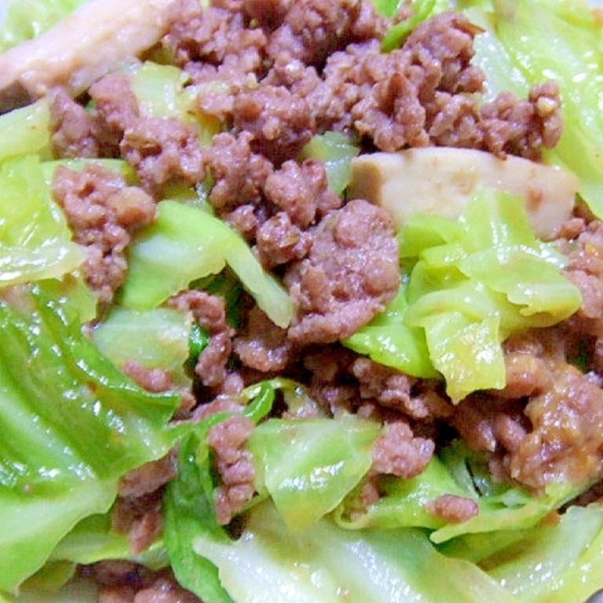 キャベツ ひき肉