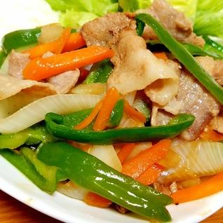 シャキシャキ☆豚バラ肉と野菜のオイスターソース炒め