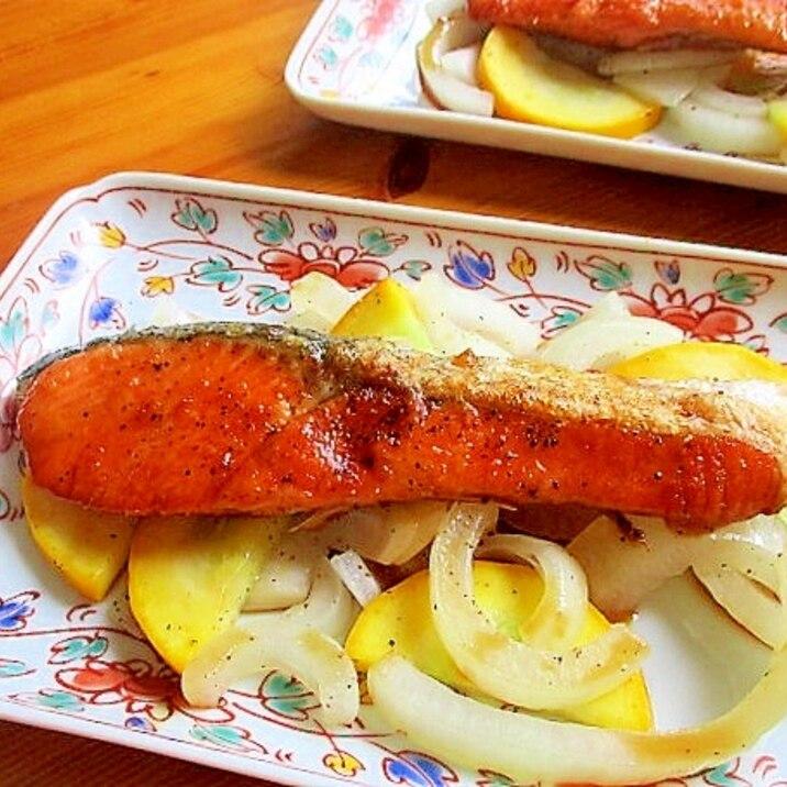 ご飯がすすむ♪鮭の生姜焼き