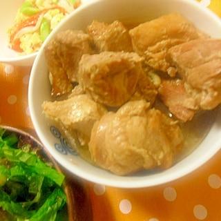 豚と鶏の角煮 圧力鍋使用