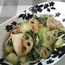 チンゲン菜とレンコンのオイスター炒め