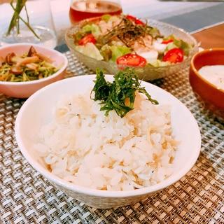 シラスと生姜の炊き込みご飯