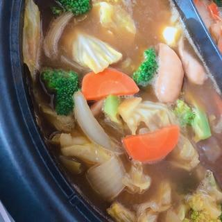 野菜のみカレー鍋!