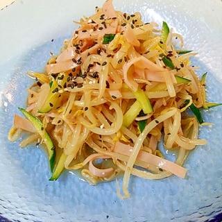 お弁当にも☆もやしのピリ辛サラダ