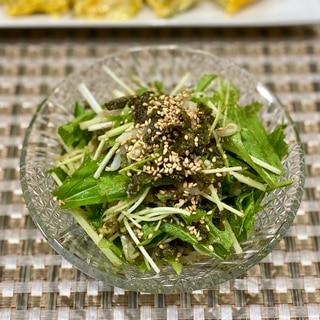 もやしと水菜のチョレギ風サラダ