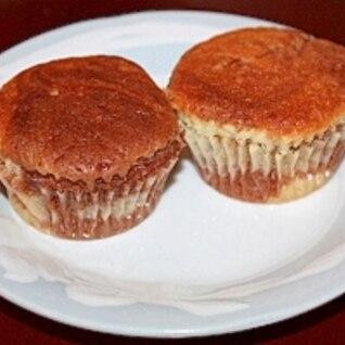 ちょこっとチョコで!マーブルなカップケーキ★