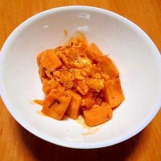 高野豆腐のエビチリソース風煮