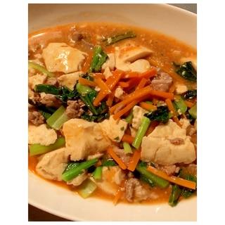 麻婆豆腐の素で簡単!野菜たっぷりおかず♪
