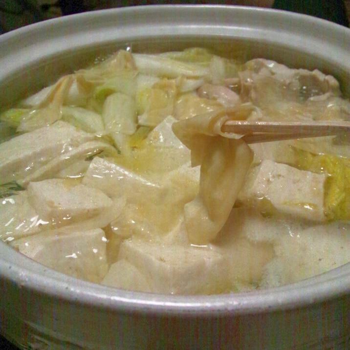 あったまる〜低コスト低カロリー!うちの湯豆腐