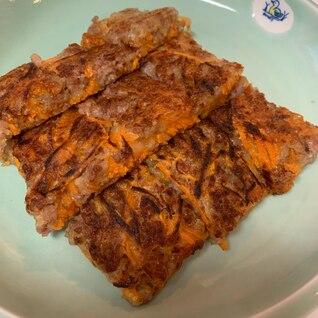ボリューム満点 豚ひき肉とにんじんのチヂミ