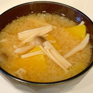 バターナッツかぼちゃとキノコの味噌汁