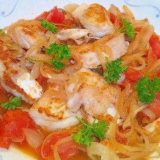 ソースまで美味しい!白身魚の野菜きのこソースかけ♪