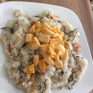 塩昆布と卵焼きのちらし寿司
