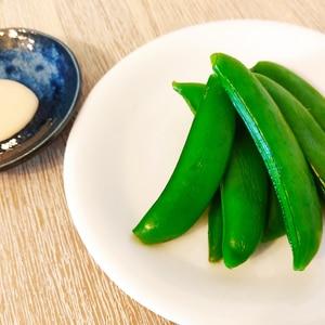 マヨポン酢で☆茹でスナップエンドウ