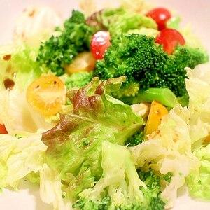 ブロッコリーとレタスの韓国風サラダ