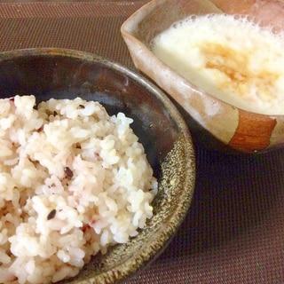香ばしくてヤミツキ♪「雑穀米のとろろご飯♪」