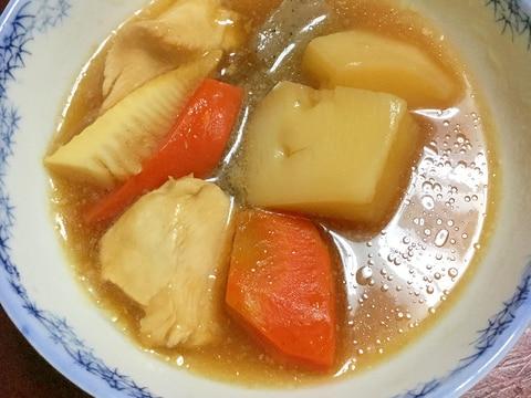 麺つゆde治部煮風☆聖護院大根とタケノコ。