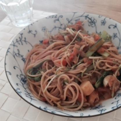 余っている野菜も入れました。美味しかったです。