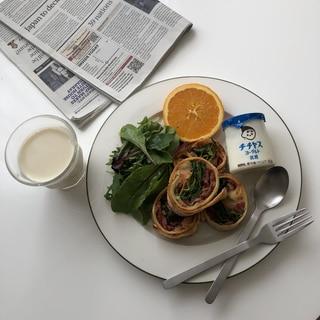 コストコのハイローラー風朝食