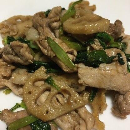 れんこんのシャキシャキとお肉が美味しいです。(๑˃̵ᴗ˂̵) 美味しいレシピありがとうございました。