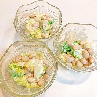 キャベツと大豆の簡単サラダ☆