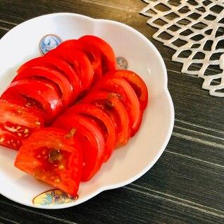 冷やしトマト☆わさび醤油オリーブオイルがけ