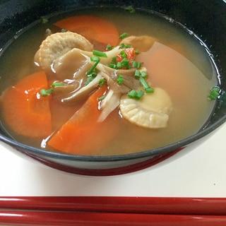冷凍ベビーホタテの味噌汁