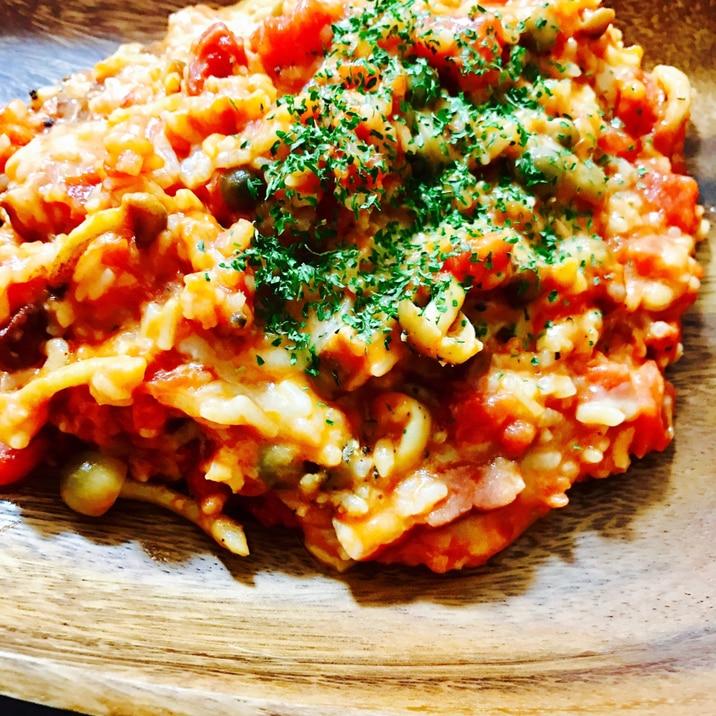 残りご飯で簡単トマトリゾット☆