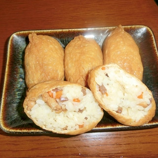 思い出の母のおいなりさんは具沢山ちらし寿司入り