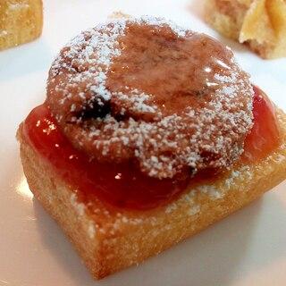 苺ジャムとチョコチップクッキーのバームクーヘン