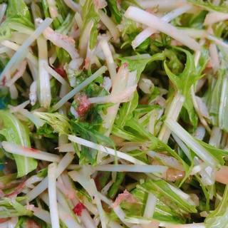 めんつゆで簡単!水菜としらすのかつお節サラダ♡