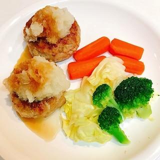 今夜の夕飯にいかが☆ジューシーハンバーグと温野菜