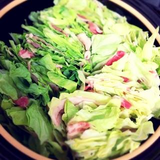【春キャベツ1玉♪】もりもり食べるミルフィーユ鍋