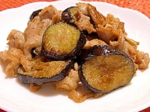 豚肉 と なす の 料理