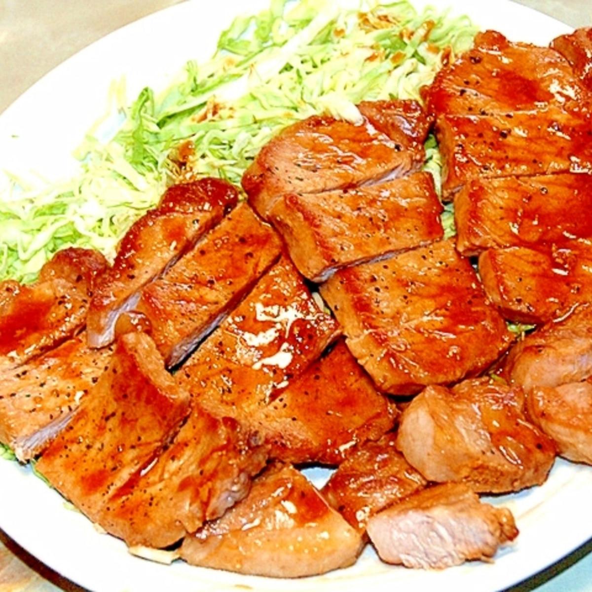 ロース レシピ 豚 切り身