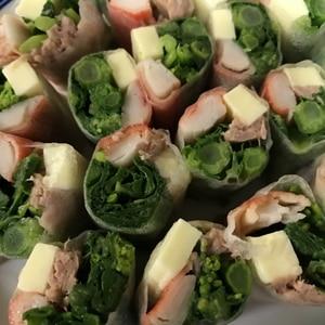 カニカマとチーズの簡単サラダ生春巻き