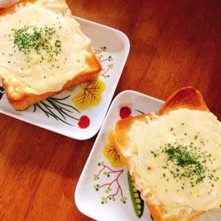 超簡単!オープントーストタイプのクロックムッシュ♡
