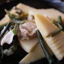 春限定!タケノコとワラビの豚煮