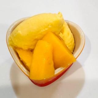 手作りマンゴーアイス