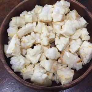 子どものおやつ☆余った切り餅でノンフライヤーおかき