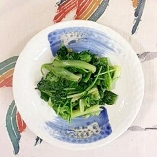チシャ菜と豆苗のココナッツオイル炒め