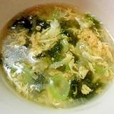 ねぎいっぱい中華卵スープ