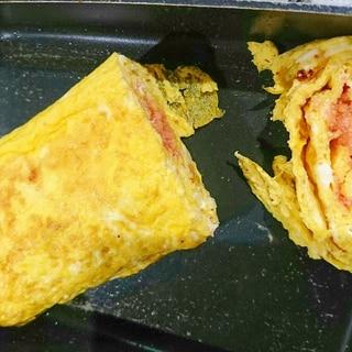 明太パスタソースの卵焼き