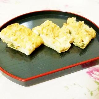 ニラ醤油の卵焼き