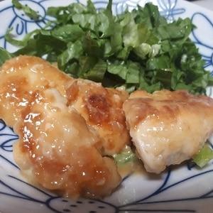 子供が喜ぶ(^^)鶏むね肉のチーズはさみ焼き♪
