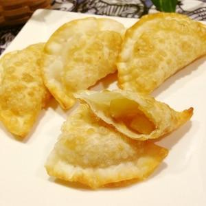 フライパン*ぎょうざの皮アップルパイ