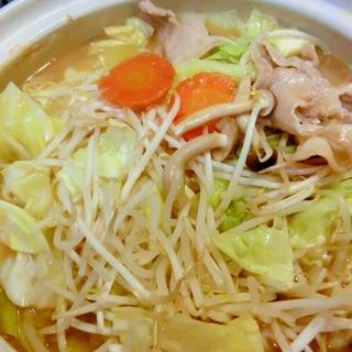 野菜たっぷり!煮込みラーメン鍋