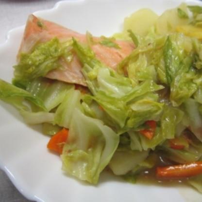 フライパンで手軽にちゃんちゃん焼できるなんていいね~。野菜もたっぷりとれるし、おかずにもなるし。。。おいしかったよぉ(^^♪
